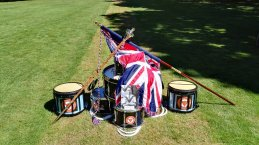 Drumhead ceremony in Delville Wood