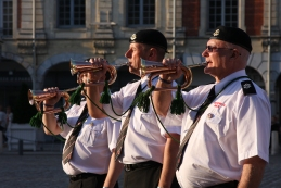 O's Bugle Team performing in Arras Town Square